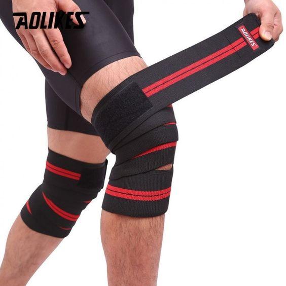 BUKA Knee Sleeve Powerlifting Weightlifting Patella Support Brace Protector GYM