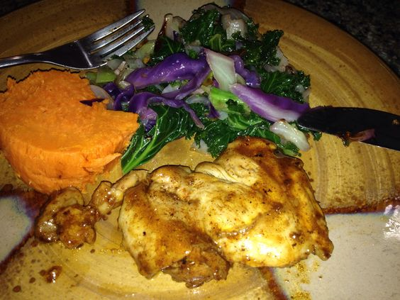 oil boneless chicken chicken thighs bbq sauces cabbages kale thighs ...