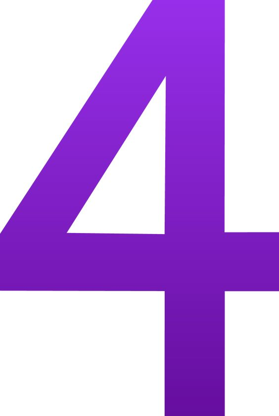 4 | The Number Four - Free Clip Art | Purple | Pinterest ...
