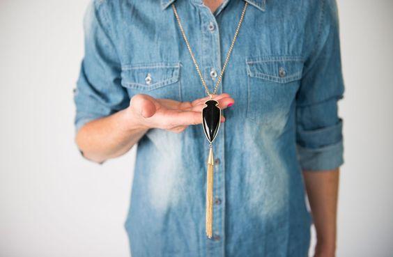 Arrowhead & Fringe Pendant Necklaces! | Jane