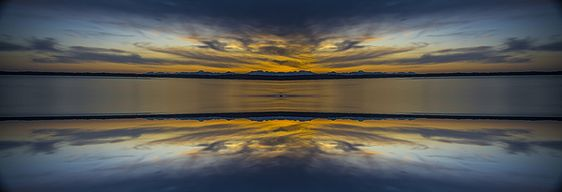 Puget Sound Sunset Reflextion by Pelo Blanco