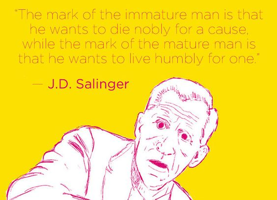 ... love so true love it memes literary quotes jd salinger getting older