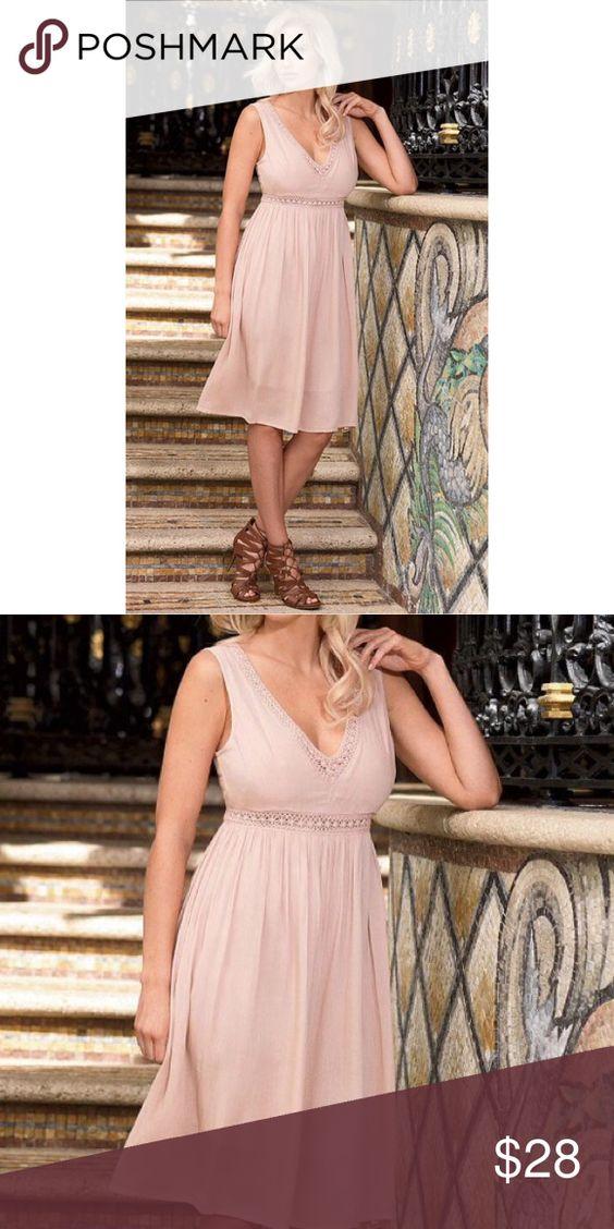NWT Lacey baby doll v neck blush dress Brand new Dresses