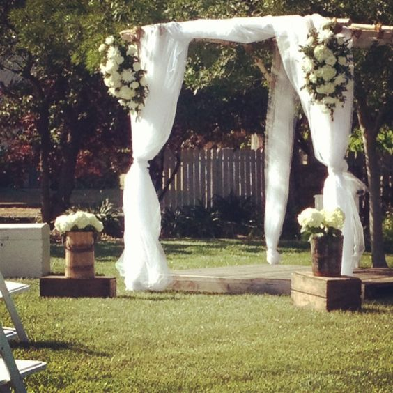 Rustic Wedding Arbors: Arbors, Steamer Trunk And Steamers On Pinterest
