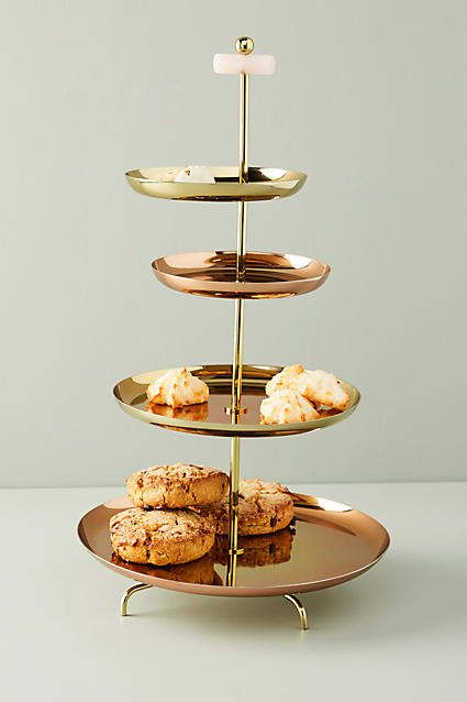 Glam Tiered Serving Stand Country Kitchen Farmhouse Dinnerware Sets Kitchen Collection