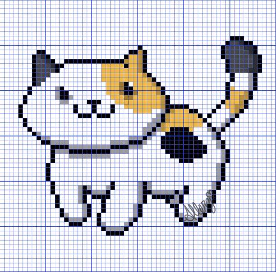Neko Atsume Cross Stitch Patterns: Sunny! - Imgur
