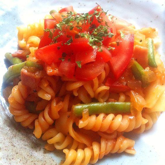 Chisaimono 野菜たっぷり トマトのショートパスタ