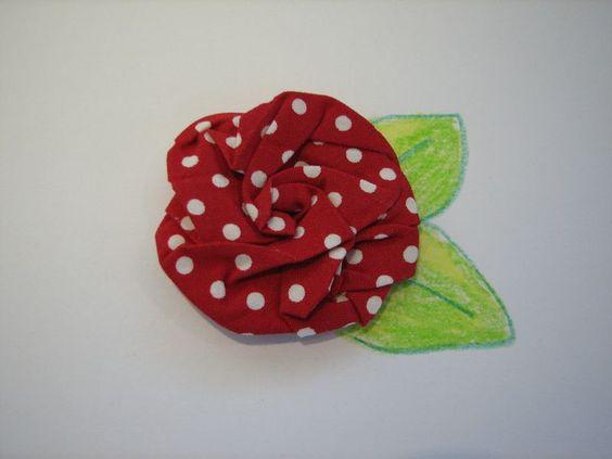 sew fold and twist fabric flowers