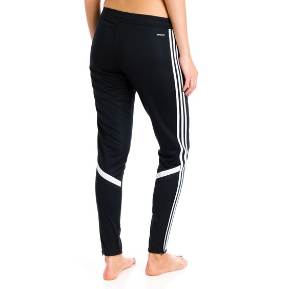 white leather adidas trainers pants