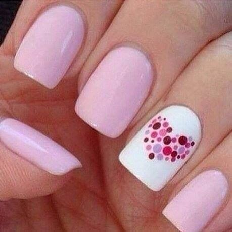 valentine's day nail designs pinterest