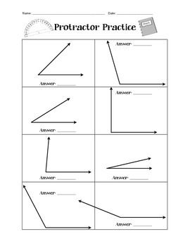 Printables Measuring Angles Worksheet Answers protractor practice worksheet simple measuring angles this has two pages of for students to measure answer key included tip if using small solid