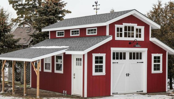 Overlays barn garage and carriage house garage doors on for Composite garage doors that look like wood