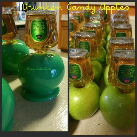 Drunken Apples w/ Crown Royal  Apple  liquor