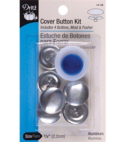 Dritz Aluminum Cover Button Kit Size 36 7/8 inch