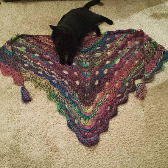 finished prayer shawl. The Virus Shawl. RH Unforgettable. Jhook. 2.75 ...