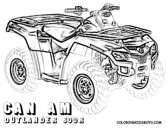 four wheeler coloring pages of