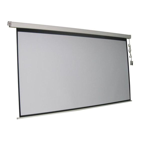 Inland ProHT 84 in. Electric Projection Screen with White Frame ...