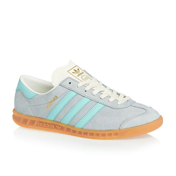 Men's adidas originals Hamburg Shoes - Clear Onix/clear Aqua/chalk White