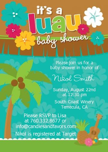 Luau - Baby Shower Invitations