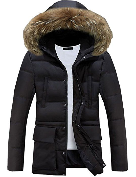 Glestore Herren Wintermantel Mit Pelzkragen Winter Baumwolle Kapuzenjacke Outdoorjacke Winterjacke Warm Mantel Sc Wintermantel Herren Kapuzenjacke Winterjacken