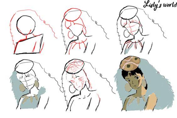 Tuto dessin : Princesse Mononoké