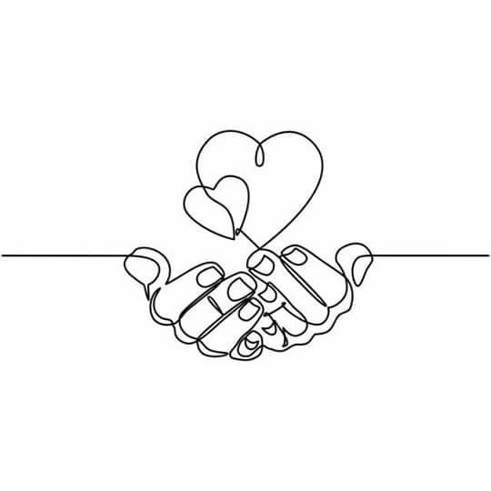 Pin By Sebastian M On Decoration How To Draw Hands Hands Holding Heart Single Line Drawing