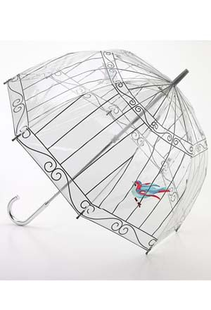 See where you're going and keep yourself dry at the same time. The clear yet sturdy canopy covers your head and shoulders with room to spare, and gives you a safe, bird's eye-view of what other umbrellas block from sight. Extra strong yet lightweight fiberglass ribs; easy opening and closing. From Fulton Company, makers of the clear umbrella preferred by Her Majesty the Queen, and proud holder of a Royal Warrant to the Queen