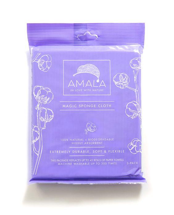 Amala Magic Sponge Cloth packaging  www.loveamala.com