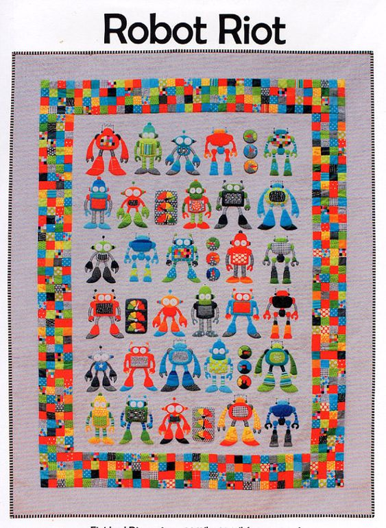 Robot Riot quilt pattern from Don't Look Now,  at Pipers Girls