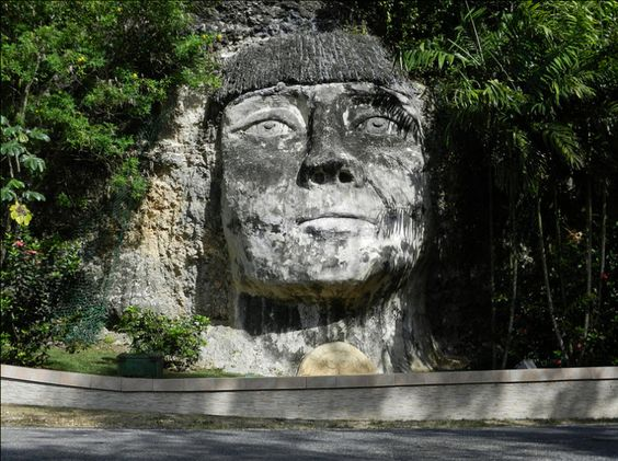 Taino Indian Rock Puerto Rico Beautiful Tiano Art