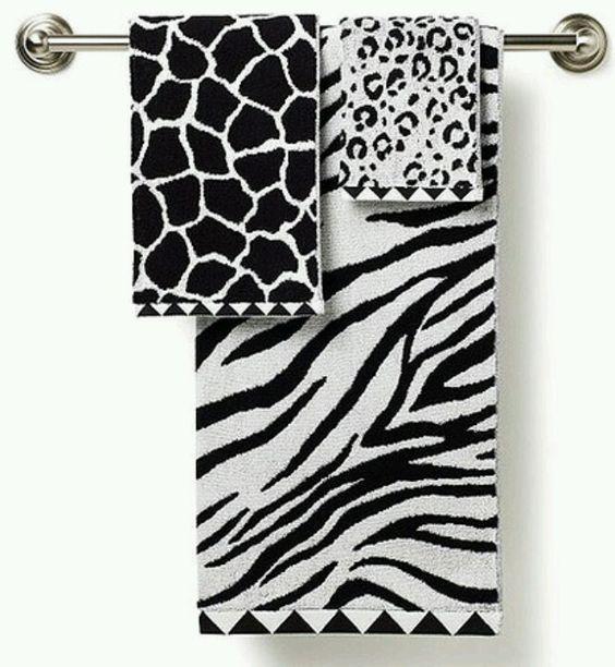 Zebra Bathroom Towels And Love On Pinterest