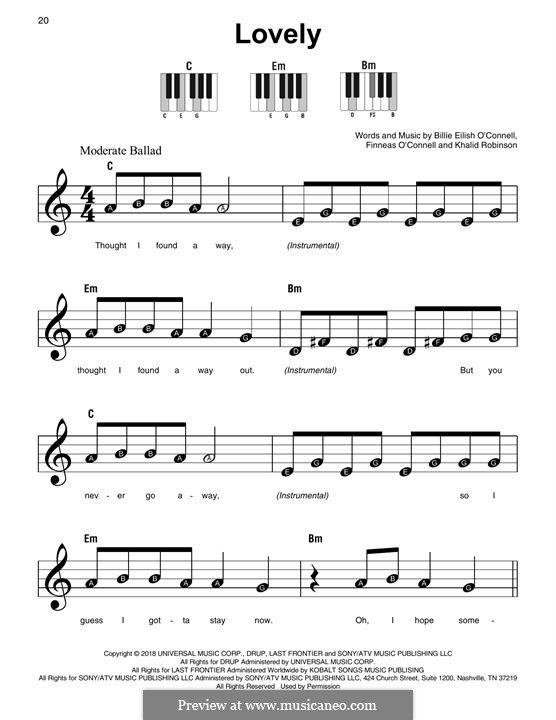 Lovely From 13 Reasons Why With Images Easy Sheet Music 13