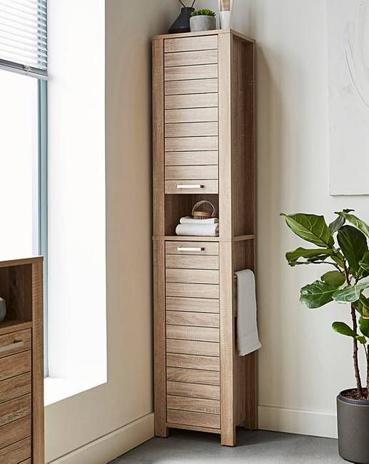 Elija Tall Boy With Towel Rail Bathroom Essentials Towel Rail Guest Bathroom Decor
