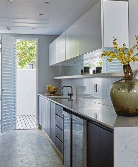 A Galley Kitchen Built For Those Who Want To Work Fast And Straightforward Also It Is Ideal For Those W In 2020 Galley Kitchen Remodel Kitchen Design Kitchen Remodel