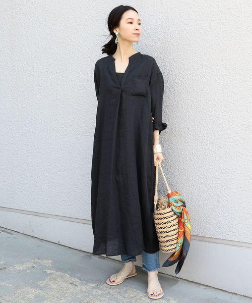 マキシ丈ワンピースコーデ特集 一枚で体型カバーも叶える大人のマストアイテム folk ファッションスタイル 夏 ファッション レディース 春夏 ファッション レディース