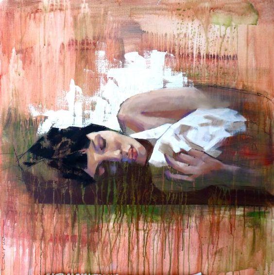 "Saatchi Art Artist Pascale Taurua; Painting, ""Sleeping"" #art"