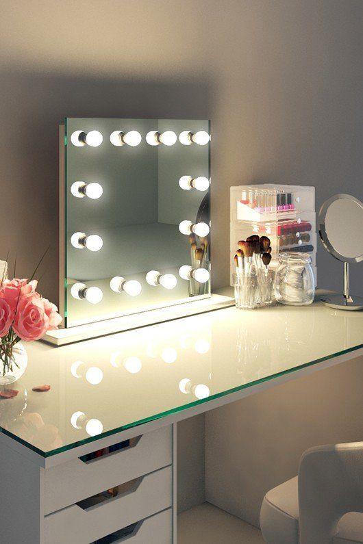 Flot Hollywood Spejl Med Led Lys 60cm X 60cm Hollywood Mirror