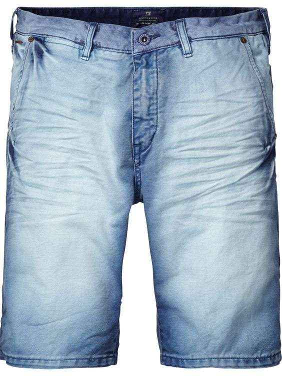 Shorts chinos de inspiración denim en colores brillantes | Shorts | Ropa para hombre en Scotch & Soda