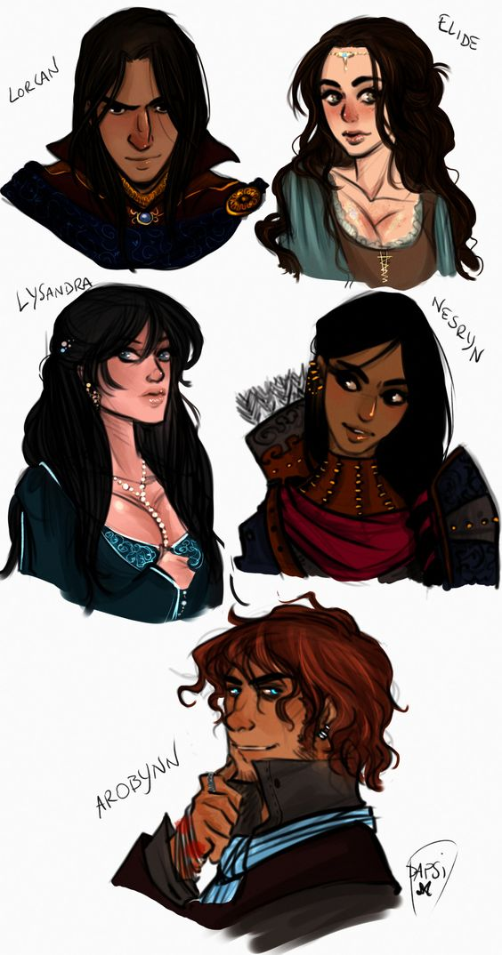 let's celebrate the beginning of Empire of Storms designing the characters of Queen Of Shadows