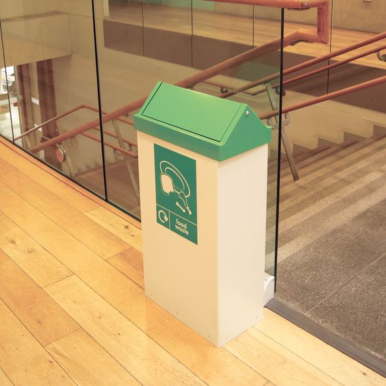 The RFG/ST swing top food waste collection unit, ideal for offices, canteens or schools.