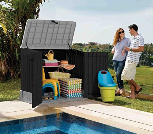 Keter 12-662011 Chalet Jardin Coffre Multifonctions 845L Ant ...