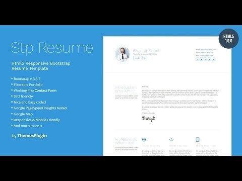 Html5 Responsive Bootstrap Resume Template For Personal Profile Portfolio In 2020 Resume Template Resume Design Template Resume