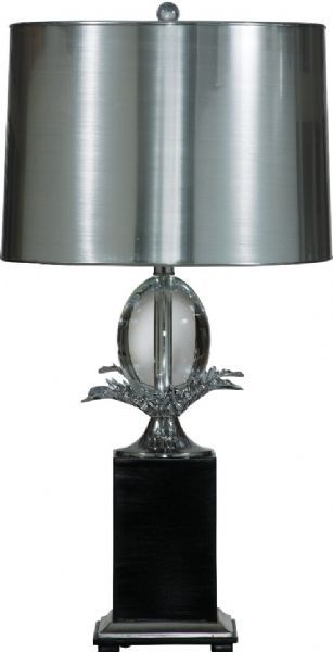 Heston Black and Silver Table Lamp