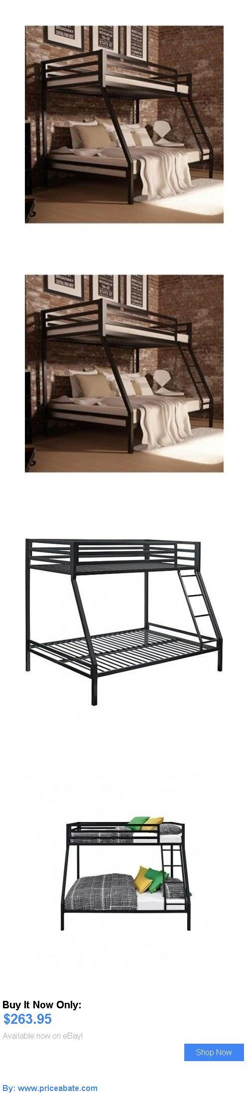 Kids Furniture: Bunk Beds With Twin Over Full Black Metal Bedroom Furniture Kids Boys Ladder New BUY IT NOW ONLY: $263.95 #priceabateKidsFurniture OR #priceabate