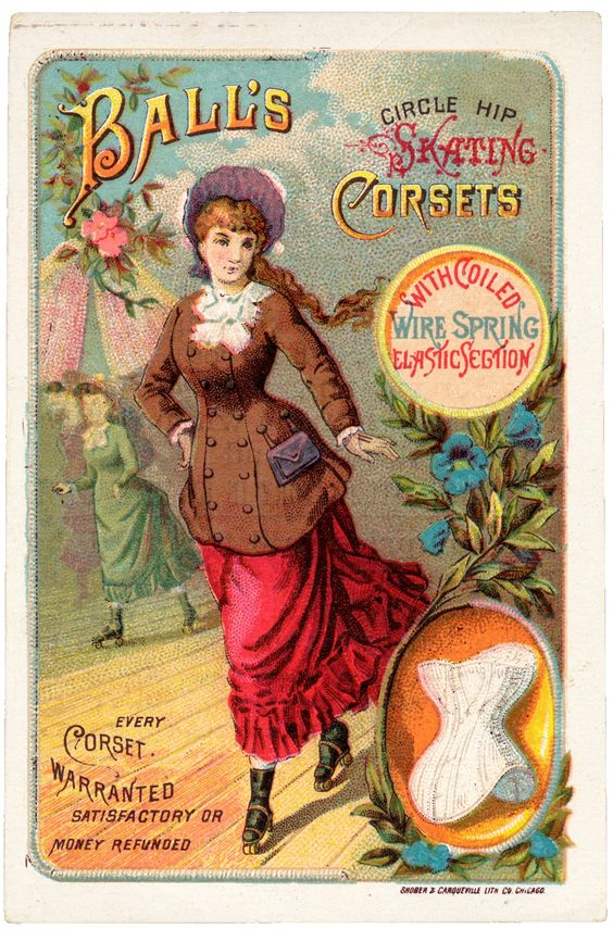 Sweetly Scrapped: Vintage Corset Trading Card, Ad, *Free* Image