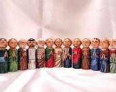 Magi Set for Storybook Nativity, Wooden Dolls - made to order. $41.50, via Etsy.