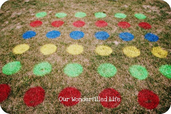 Grass Twister - no need to worry about ruining the playing board: