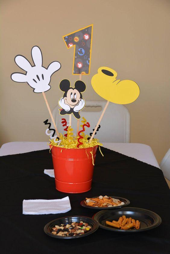 Centro de mesa Mickey Mouse:
