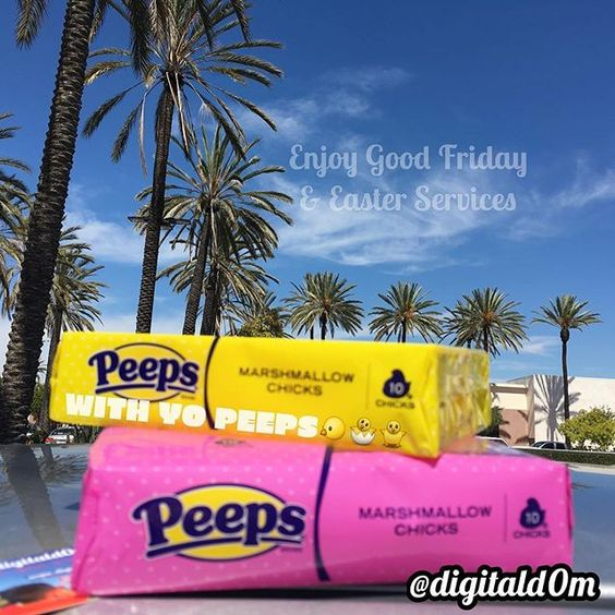 Hey FAM, I hope you enjoy Good Friday & a Happy Easter with your peeps #easter #church #love #peeps