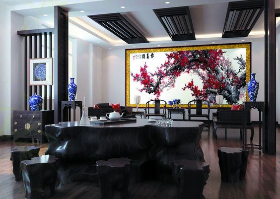 CHINESE HOUSE INTERIORS   Chinese Restaurant Interior Design House Free Pictures